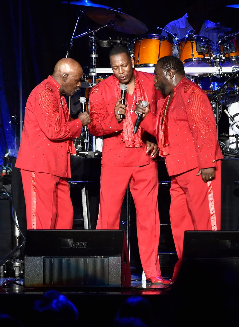 Walter Williams, Eric Grant and Eddie Levert of the O'Jays perform in Las Vegas on July 23, 2016.David Becker/Getty Images for Nu-Opp, Inc
