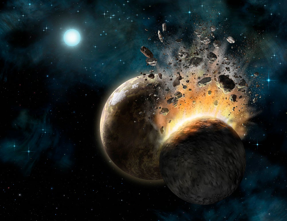 Destroyed Planet Earth - Pics about space