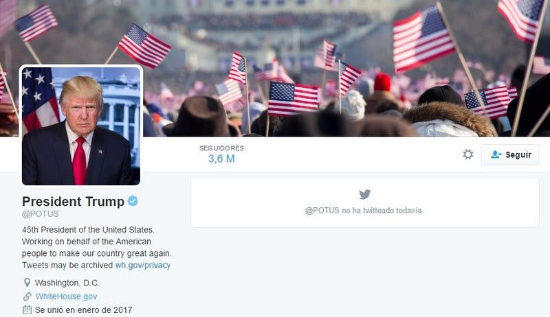 Illustration for article titled Obama ya no es @POTUS en Twitter: la cuenta pasa a manos de Donald Trump