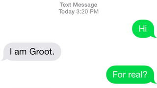 Illustration for article titled Find the answer to the meaning of Life by texting Groot