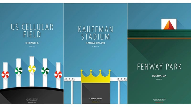 Illustration for article titled These Minimalist Baseball Stadium Posters Are Fantastic