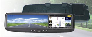 Illustration for article titled DS-400GB Integrates GPS, Bluetooth, Kitchen Sink Into Rear-view Mirror