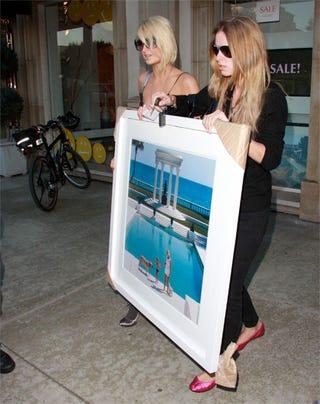 Illustration for article titled Paris & Nicky Hilton's Aryan, Aspirational Art