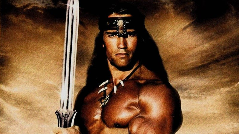 Illustration for article titled Q: What is best in life? A: Arnold Schwarzenegger playing Conan the Barbarian again