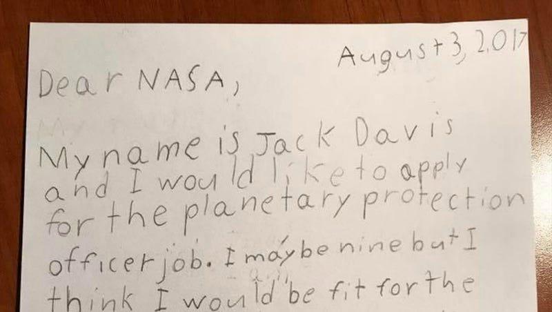 Illustration for article titled La genial respuesta de la NASA a un niño que escribió a la agencia para trabajar como guardián de la galaxia