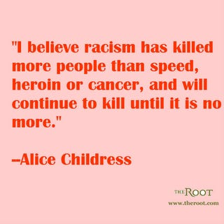 Illustration for article titled Quote of the Day: Alice Childress on Racism