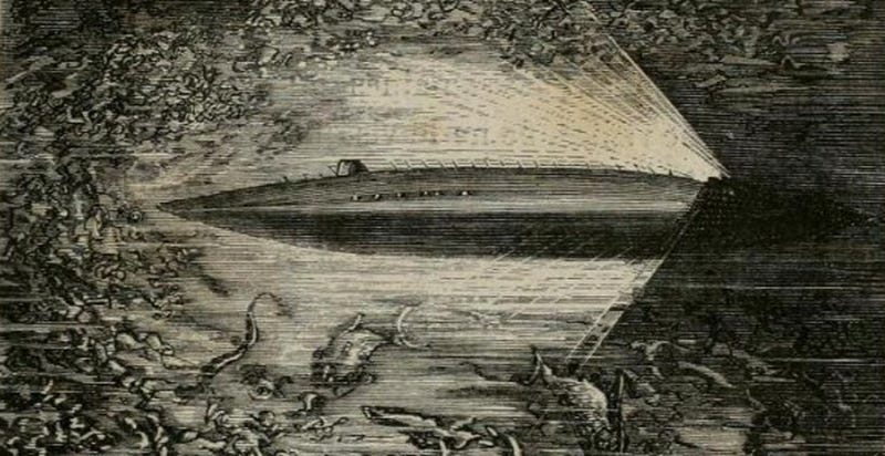 Illustration for article titled Which Real-Life Victorian Sub Inspired Jules Verne's Nautilus?
