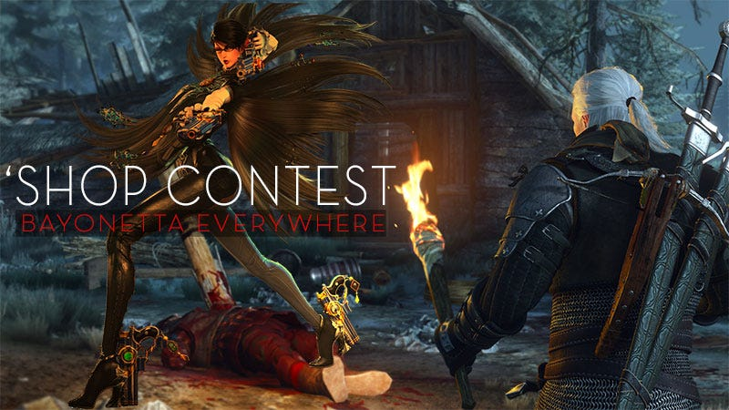 Illustration for article titled Kotaku 'Shop Contest: Bayonetta Everywhere