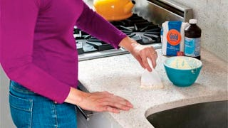 Illustration for article titled Use Flour and Peroxide to Clean Stains in Stone Countertops, Tile, and Concrete Floors