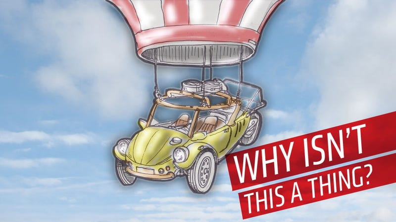 Illustration for article titled Why Doesn't The Hot-Air Balloon Car Exist?