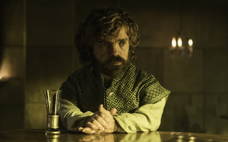 Illustration for article titled We Need to Talk Game of Thrones Like Tyrion Needs a Drinking Buddy