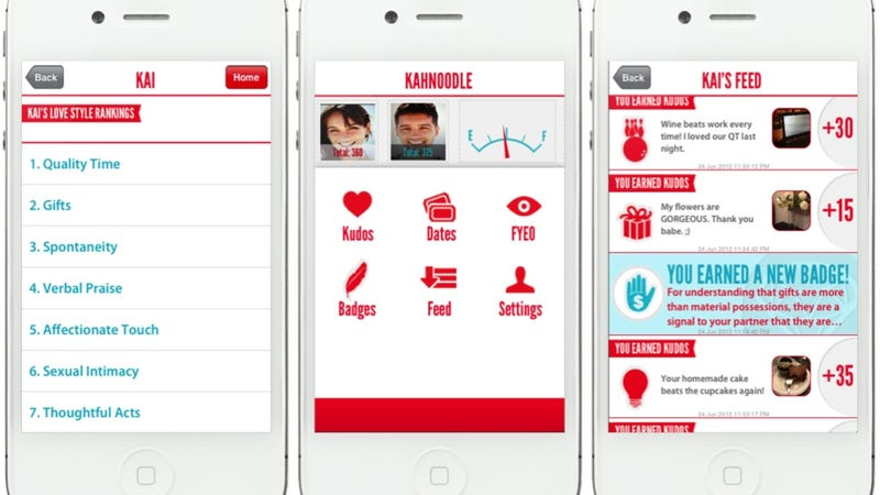 Illustration for article titled Handy App Turns Your Relationship into a Game for Mobile Device