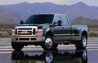 Illustration for article titled Ford Super Duty Pickups To Guzzle Slightly Less Gas