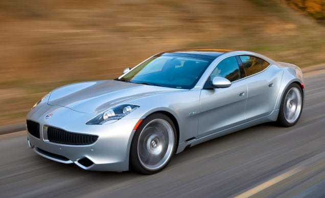 Illustration for article titled I saw my first Fisker Karma today