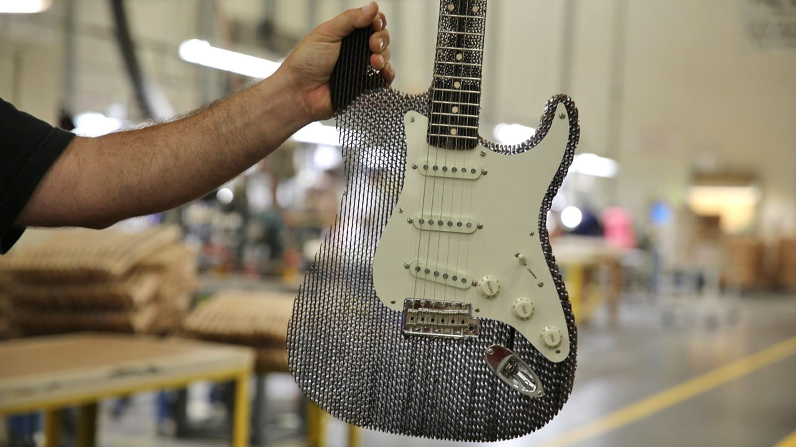 A Fender Stratocaster Made From Cardboard Still Sounds Incredible