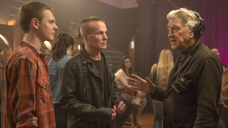 David Lynch, right, on the set of Twin Peaks, has made his way into the dictionary.