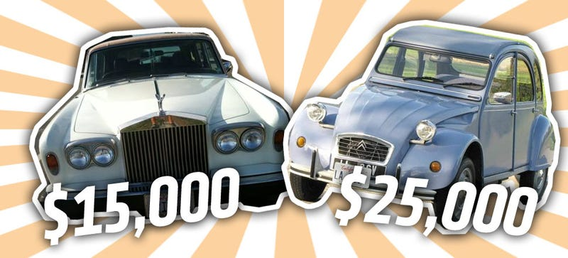 Illustration for article titled The World At The End Of 2014: A 2CV Costs More Than A Rolls