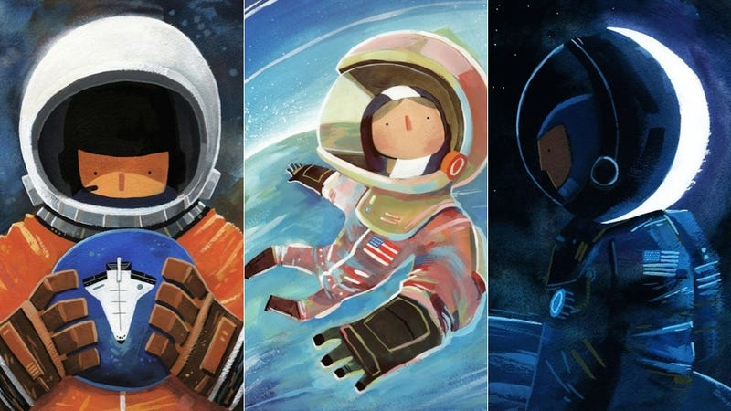 Illustration for article titled These Charming Paintings Celebrate Female Firsts In Space