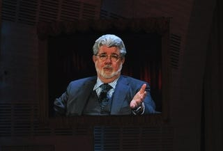 Illustration for article titled George Lucas Imagines the Future of Cinema (On Cellphones)
