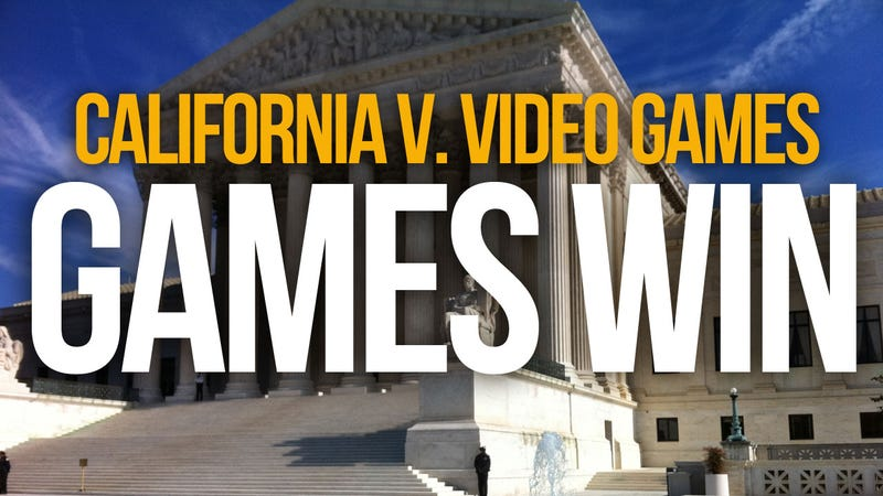 Illustration for article titled First Amendment Trumps California in Supreme Court Battle Over Violent Video Games