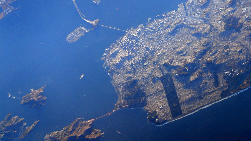 San Francisco as seen from the ISS. (Image: NASA/Scott Kelly)