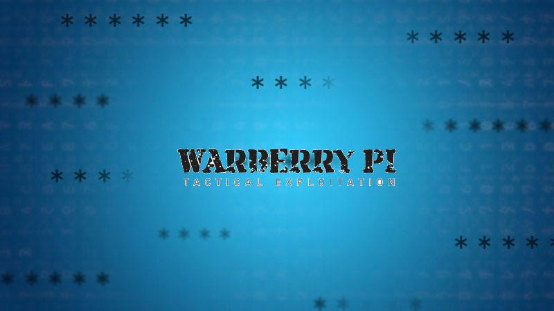 Illustration for article titled Warberry Pi Is a Dead-Simple Pen Testing Toolkit for the Raspberry Pi