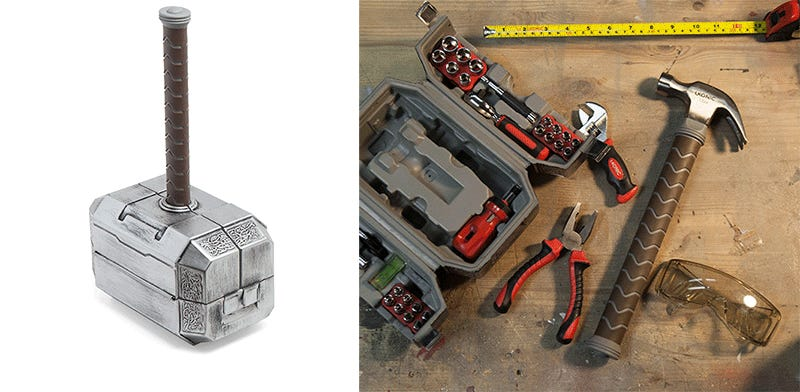 Fight hulks and fix the plumbing with this brilliant thor mjolnir hammer toolbox