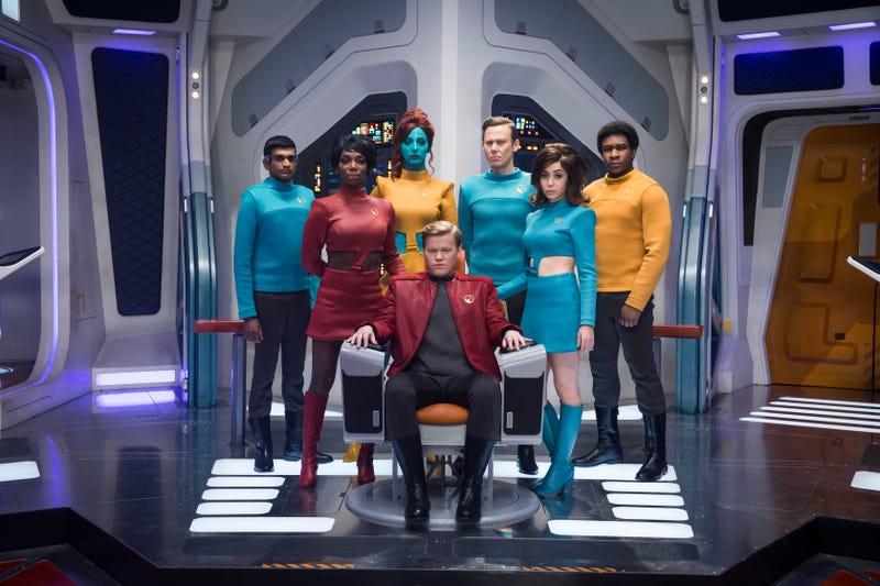 "The cast of ""USS Callister"" (Photo: Jonathan Prime/Netflix)"
