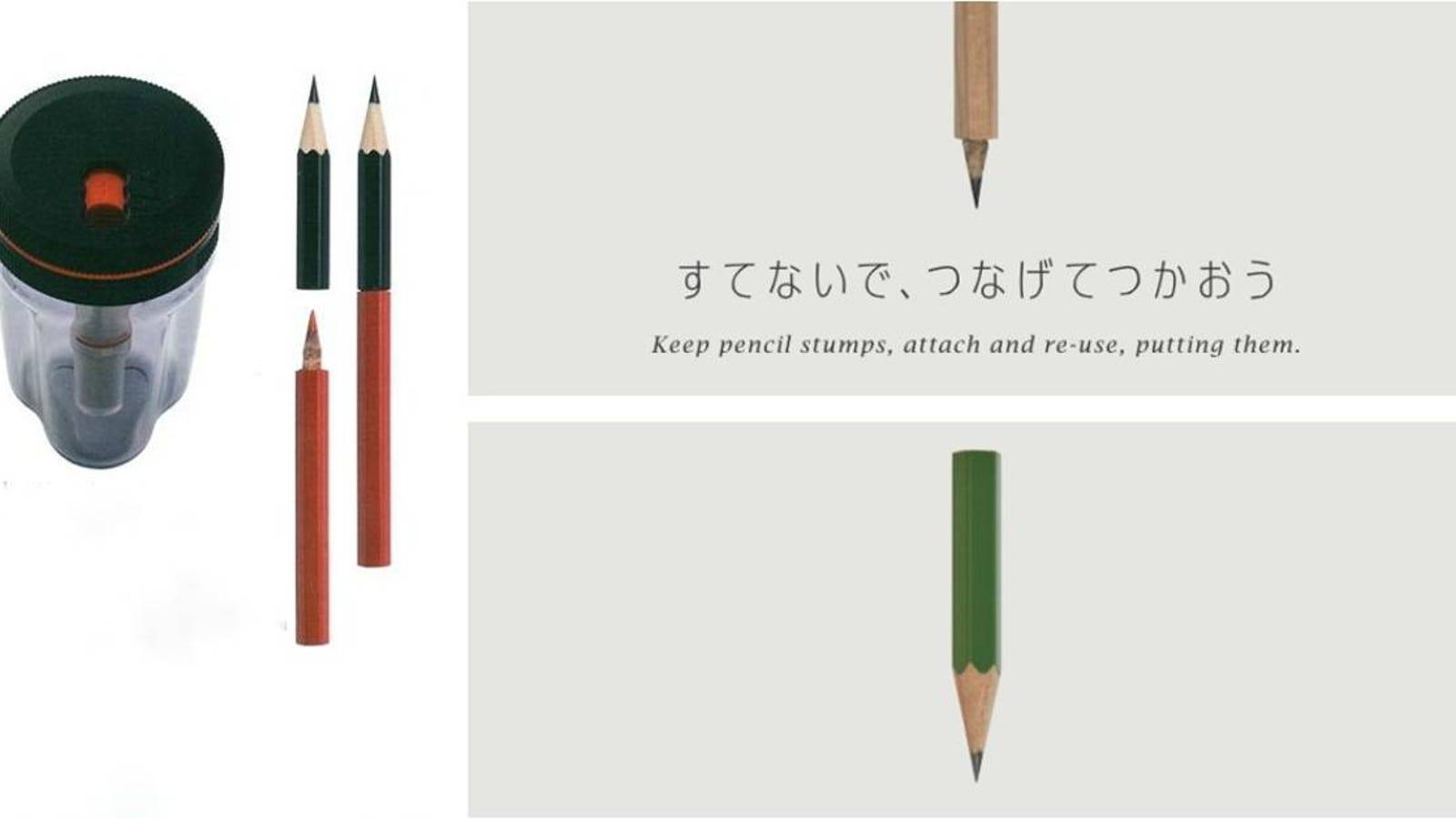 Este ingenioso sacapuntas convierte pequeños lápices usados en nuevos