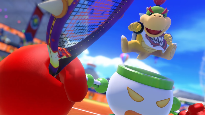 Illustration for article titled Bowser's Terrible Son Is Ruining Mario Tennis Aces