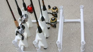 store multiple fishing rods with a diy pvc organizer, Fishing Reels
