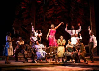 Jennifer Hudson (center) and the company of The Color PurpleMatthew Murphy