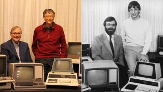 Bill Gates and Paul Allen Recreate Iconic 1981 Microsoft Photo