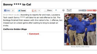 Illustration for article titled Introducing Sonny ****, The Cal Bears' New Football Coach