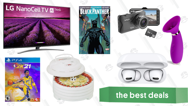 Monday s Best Deals: LG 55-inch Smart TV, NBA 2K21 Mamba Forever Edition, Vava Dash Cam, Nesco Digital Food Dehydrator, Free Black Panther Comics, and More