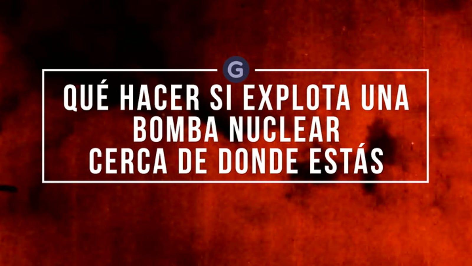 Dónde esconderte (y qué hacer) si explota una bomba nuclear cerca de donde vives