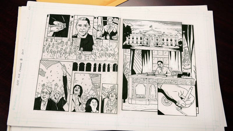 Illustration for article titled Obama Sends Publisher Collection Of Pages For Presidential Graphic Novel