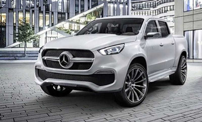 2018 Mercedes Pick Up Truck >> The Mercedes Benz X Class Pickup Truck Is Here And It Looks Sleek