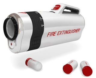 Illustration for article titled Shooter Fire Extinguisher Adds a Little Nerf-iness to Battling Blazes