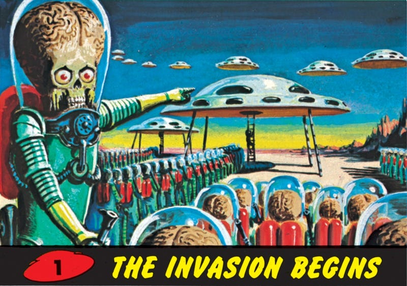 Illustration for article titled Hang the Martian invasion on your living room wall
