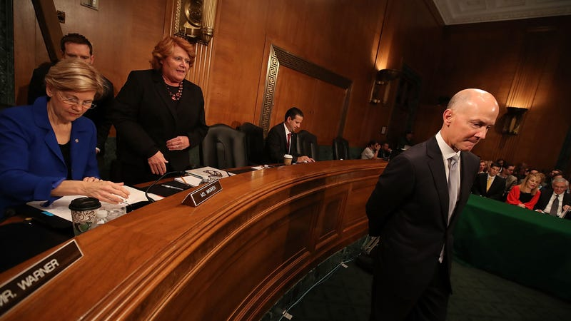 Former Equifax CEO Richard Smith prepares to testify before the Senate Banking, Housing and Urban Affairs Committee on Capitol Hill, October 4, 2017 in Washington, DC. (Photo: Getty)
