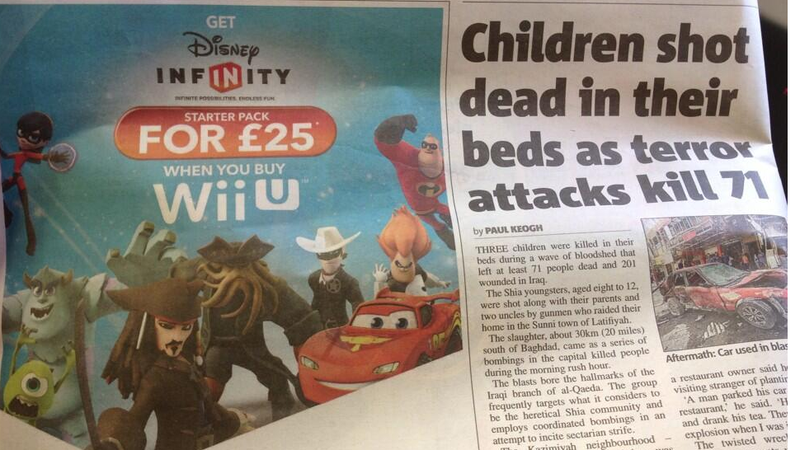 Illustration for article titled Well, This Disney Infinity Ad Sure Was Horribly Placed