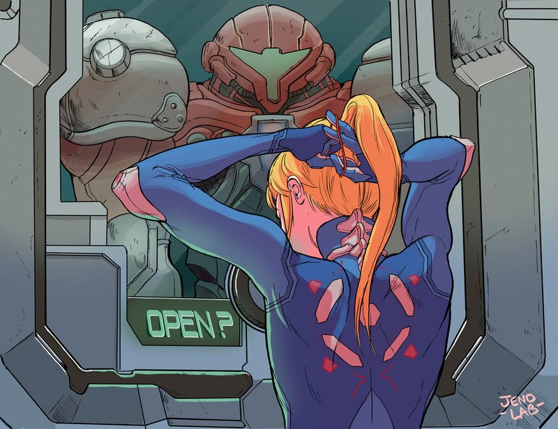 Illustration for article titled Just Another Day At The Office For Samus Aran