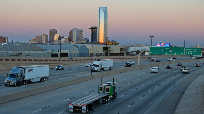 Interstate 40 in Oklahoma City.