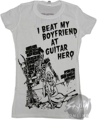 """Illustration for article titled """"I Beat My Boyfriend At Guitar Hero"""" Shirt"""