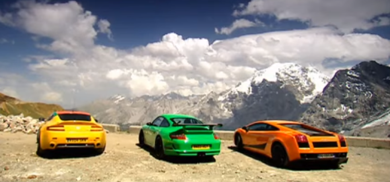 BBC Top Gear episode in search for the best driving road.