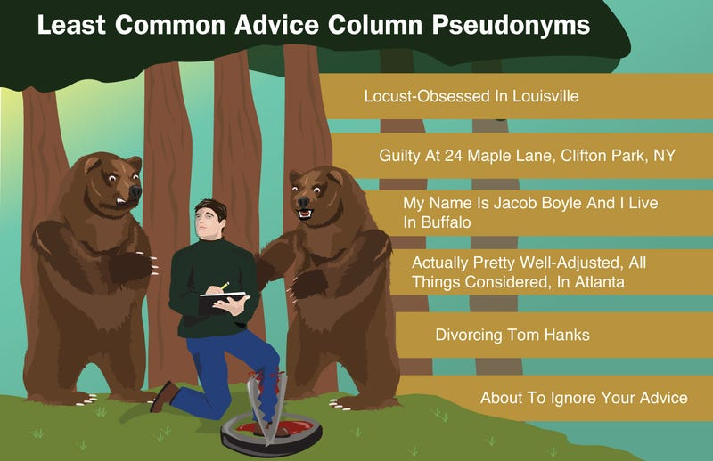 Illustration for article titled Least Common Advice Column Pseudonyms