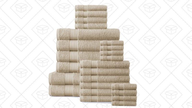 24-Piece 500 GSM Towel Set, $50