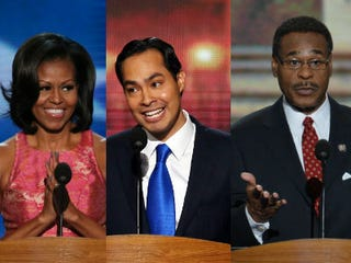 Michelle Obama; Julian Castro; Emanuel Cleaver (Getty Images)