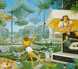 Illustration for article titled Sport in Space Colonies (1977)